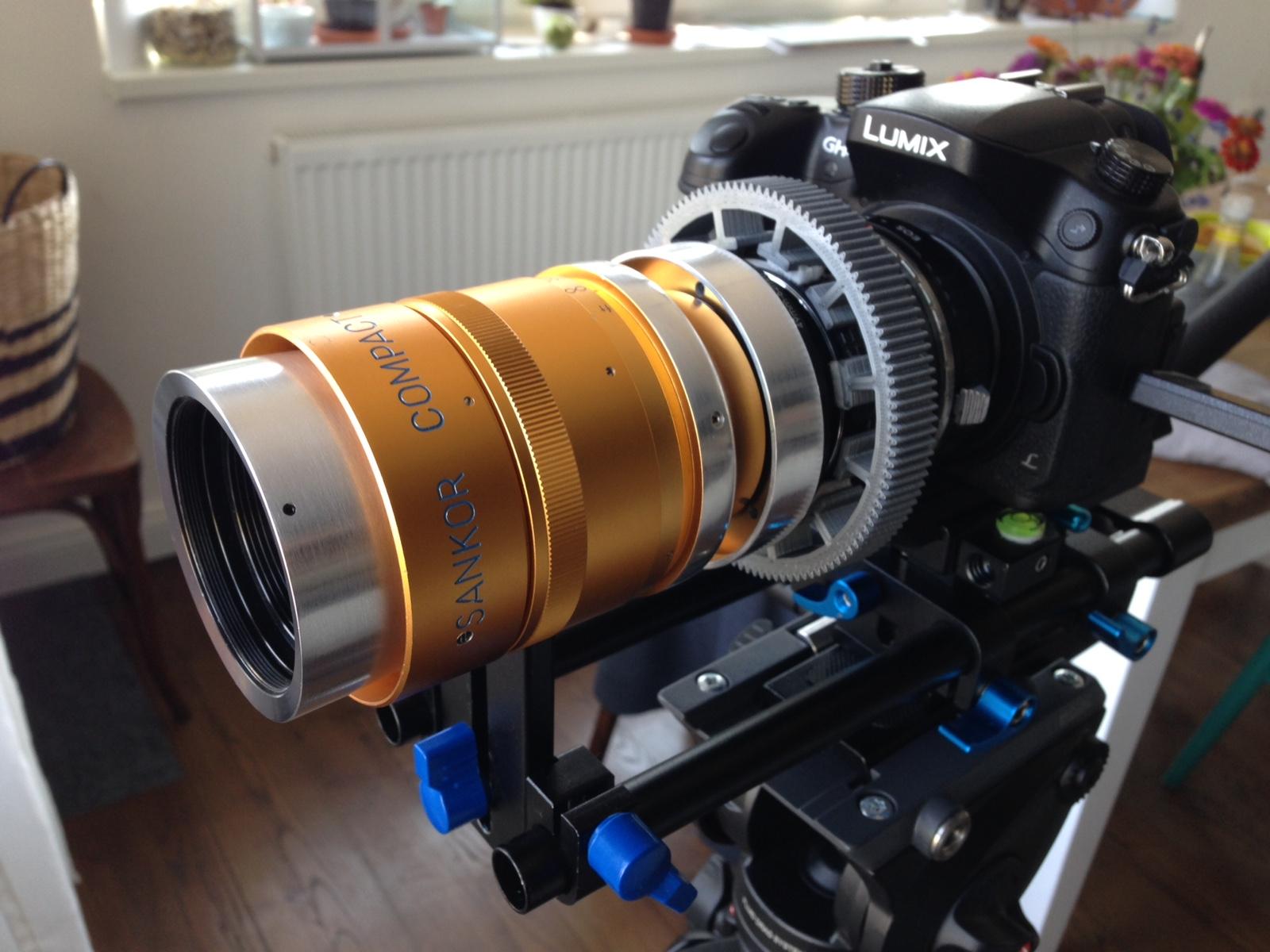 Sankor compact Cinemascope with single focus mod - test