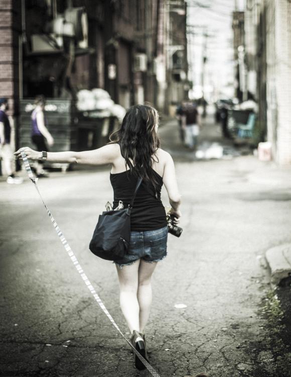Monica walkin the dog.jpg