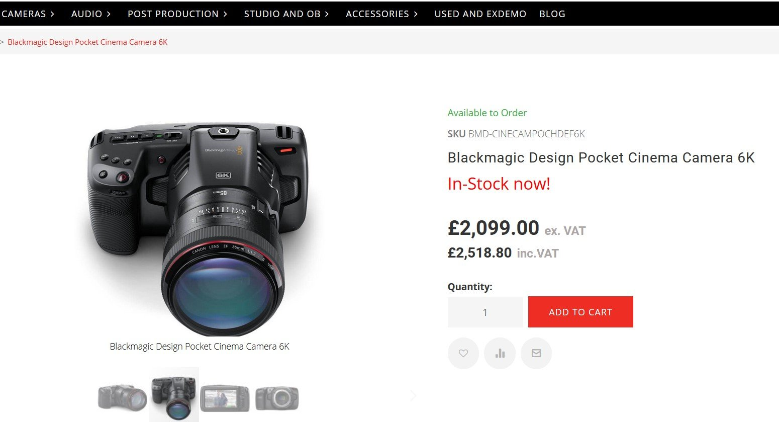 Blackmagic Pocket Cinema Camera 4K - Page 433 - EOSHD