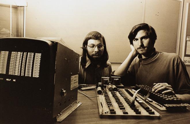 Apple's Steve Wozniak and the late Steve Jobs