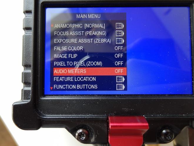 Zacuto EVF audio meters post firmware update