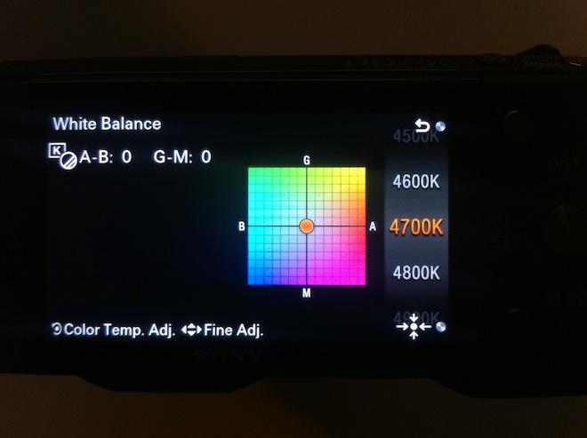 NEX 5N manual white balance