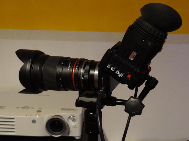 Samyang 35mm F1.4, NEX 5N, Zacuto EVF