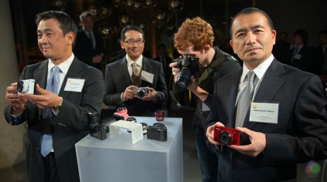 Nikon executives at the 1 system launch in New York, 21th September 2011