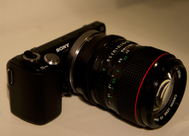 Sony NEX 5N with Canon FD 50mm F1.2 L