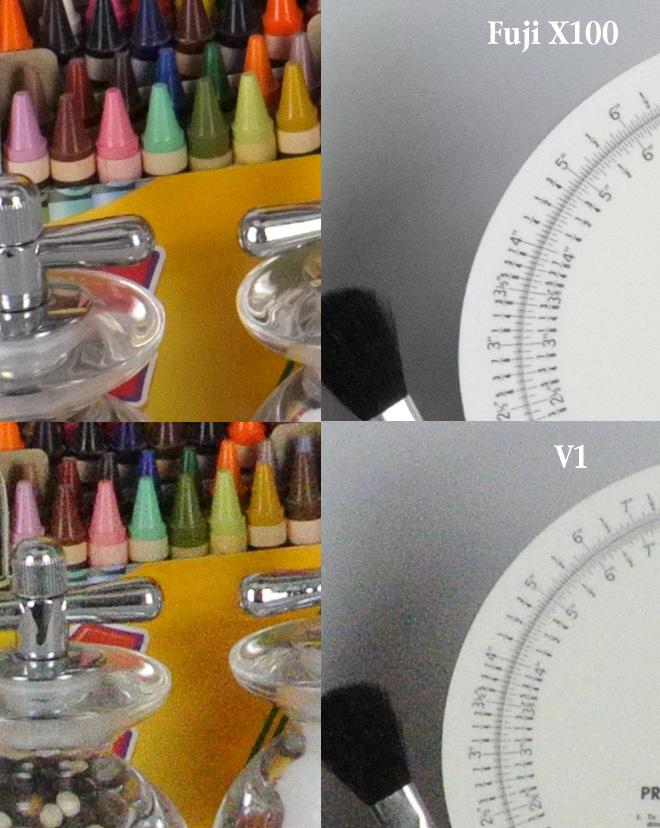 Nikon V1 vs Fuji X100 ISO 3200