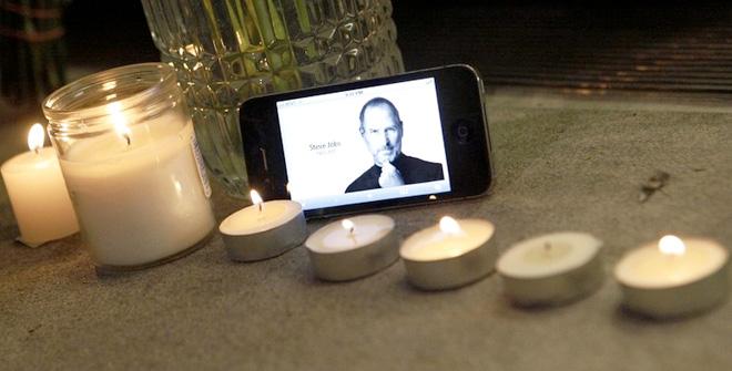 Steve Jobs tribute on an iPhone