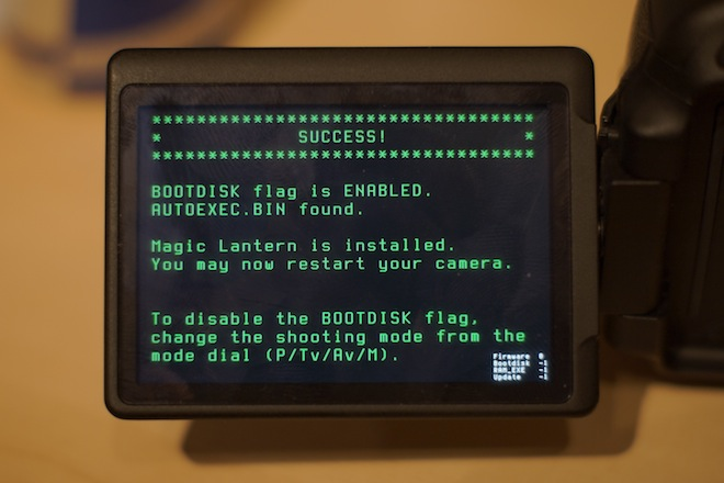 Magic Lantern on the 600D