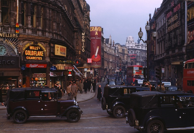 London shot on Kodachrome in the 50's