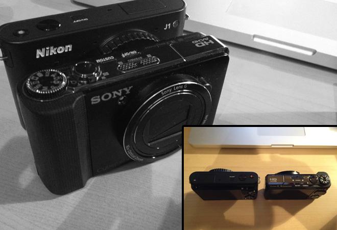Nikon J1 size comparison