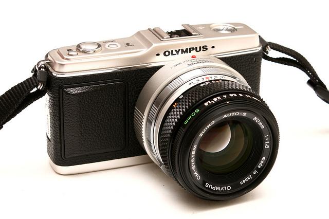 Olympus PEN with OM lens