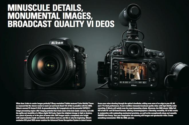 Nikon D800 brochure