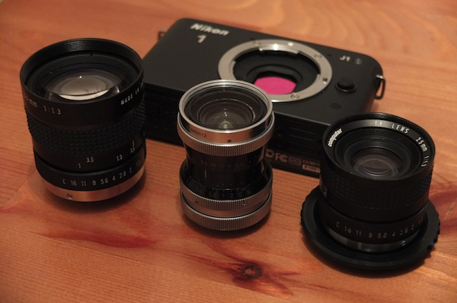 Nikon J1 and c-mount lenses