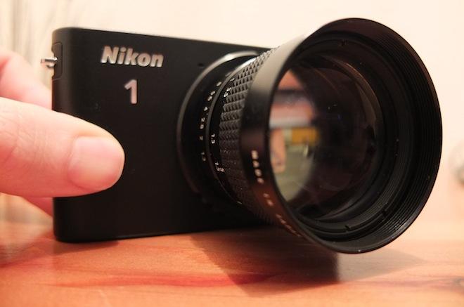 Nikon J1 and Computar 50mm