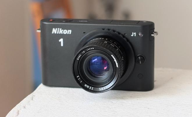 Nikon J1 and c-mount lens