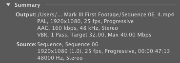 5D Mark III - Vimeo compression in Premiere Pro CS5.5