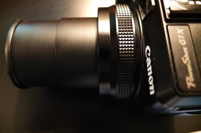 G1 X lens extended