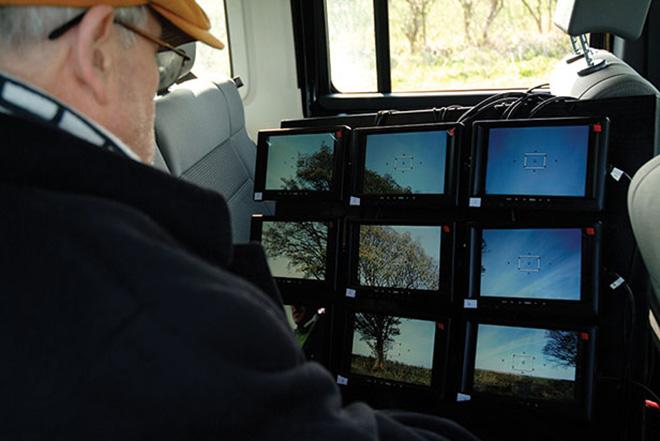 David Hockney at his DSLR video bank