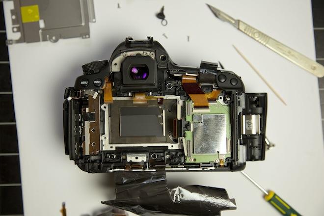 Canon EOS 5D Mark III gedemonteerd