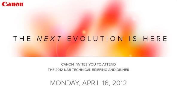 Canon NAB 2012 invite