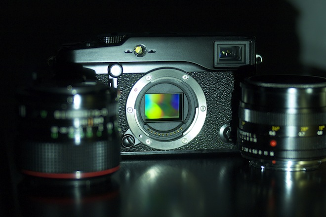 Fuji X Pro 1 - X mount exposed
