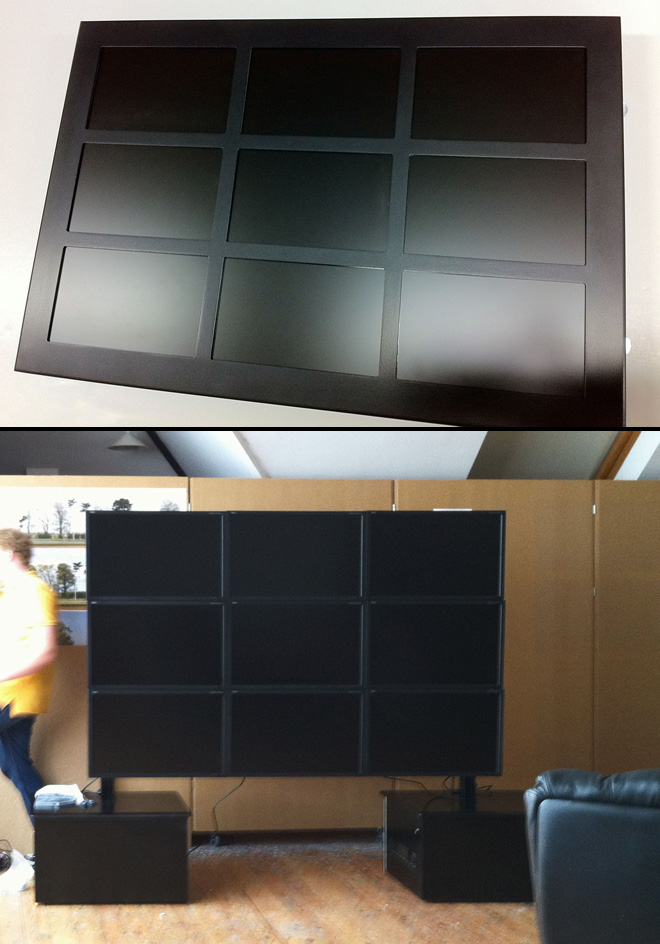 The 3x3 NEC video wall