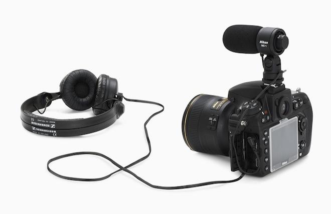 Nikon D800 with headphone jack