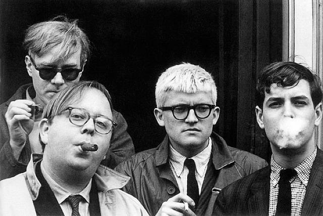 David Hockney (middle)