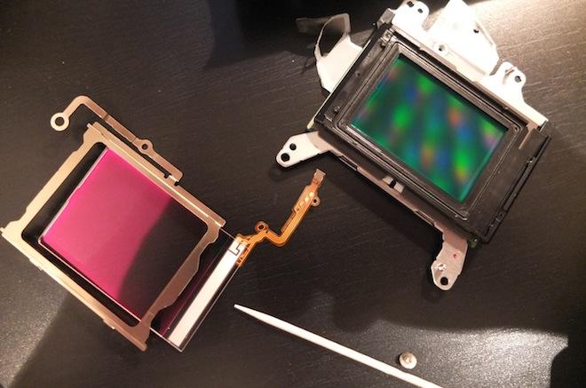 5D Mark III's sensor unit and OLPF
