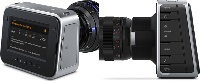 Blackmagic cinema camera with 12bit raw