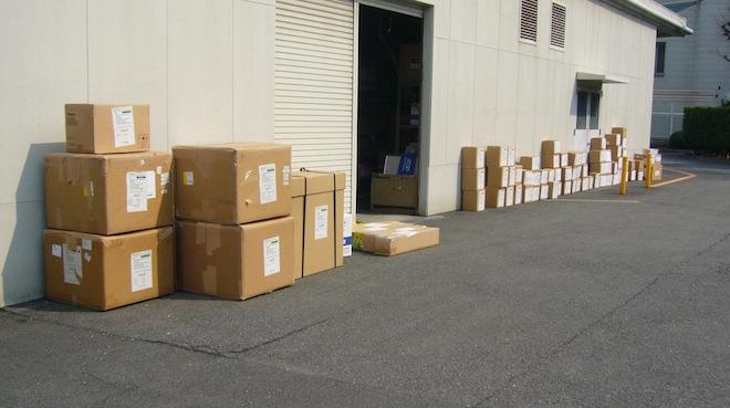 Panasonic NAB 2012 boxes