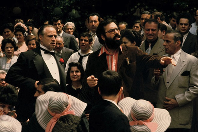 Marlon Brando and Coppola - The Godfather