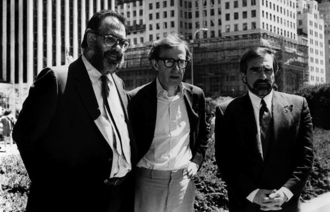 Coppola with Woody Allen and Martin Scorsese in New York