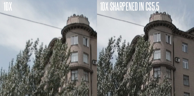 1D X - sharpen in post
