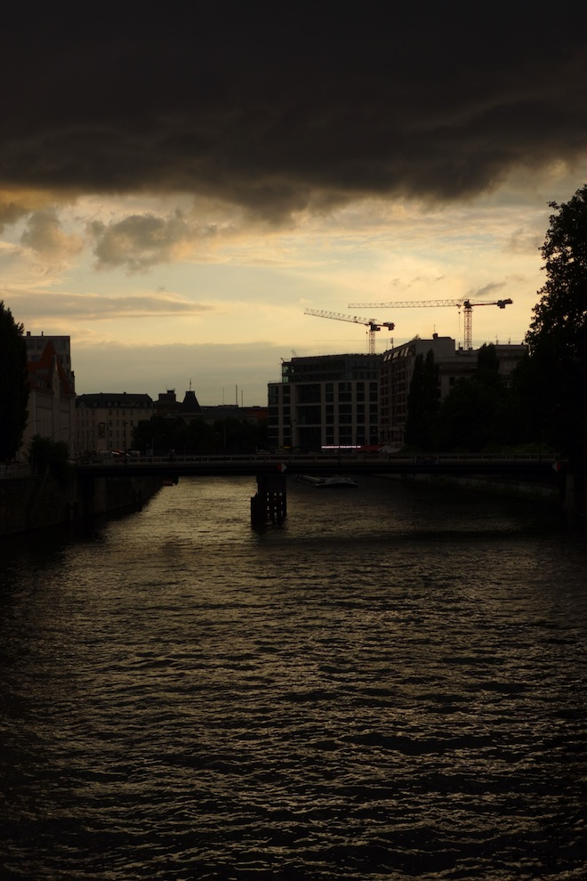 Approaching storm, River Spree