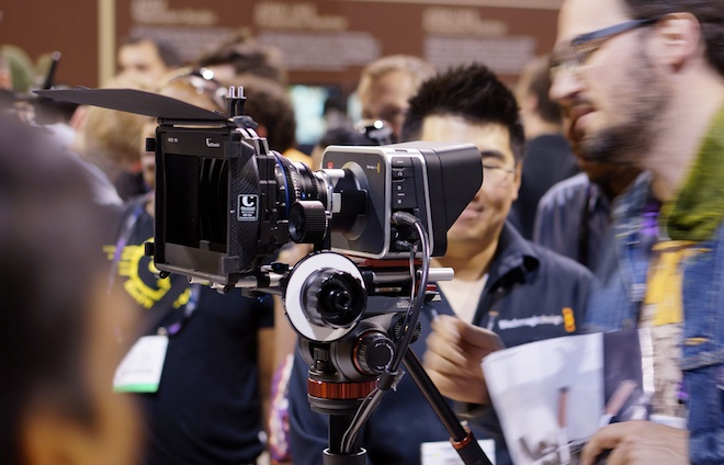 Blackmagic Cinema Camera on show