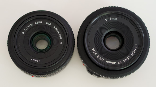 Canon pancake vs Panasonic Lumix pancake