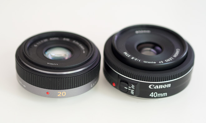 Comparison - Canon vs Lumix pancakes