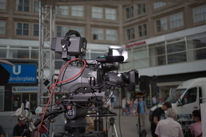 Broadcast camera shot with the Canon 5D Mark III