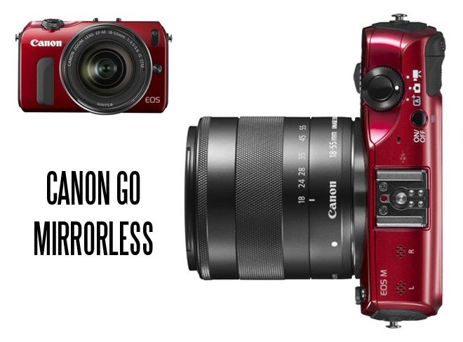 Canon EOS M - Canon go mirrorless