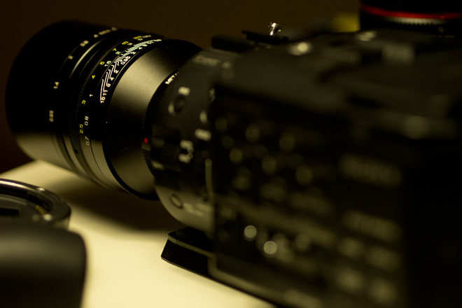 FS100 with SLRmagic Hyperprime