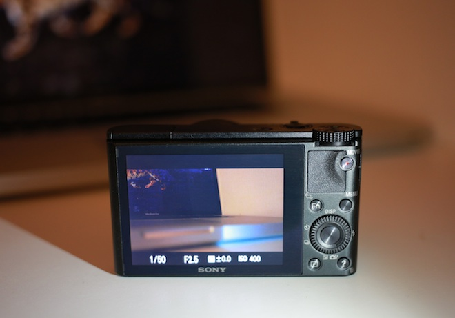 Sony RX100 with Whitemagic LCD