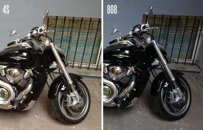 808 vs iPhone 4S - low light