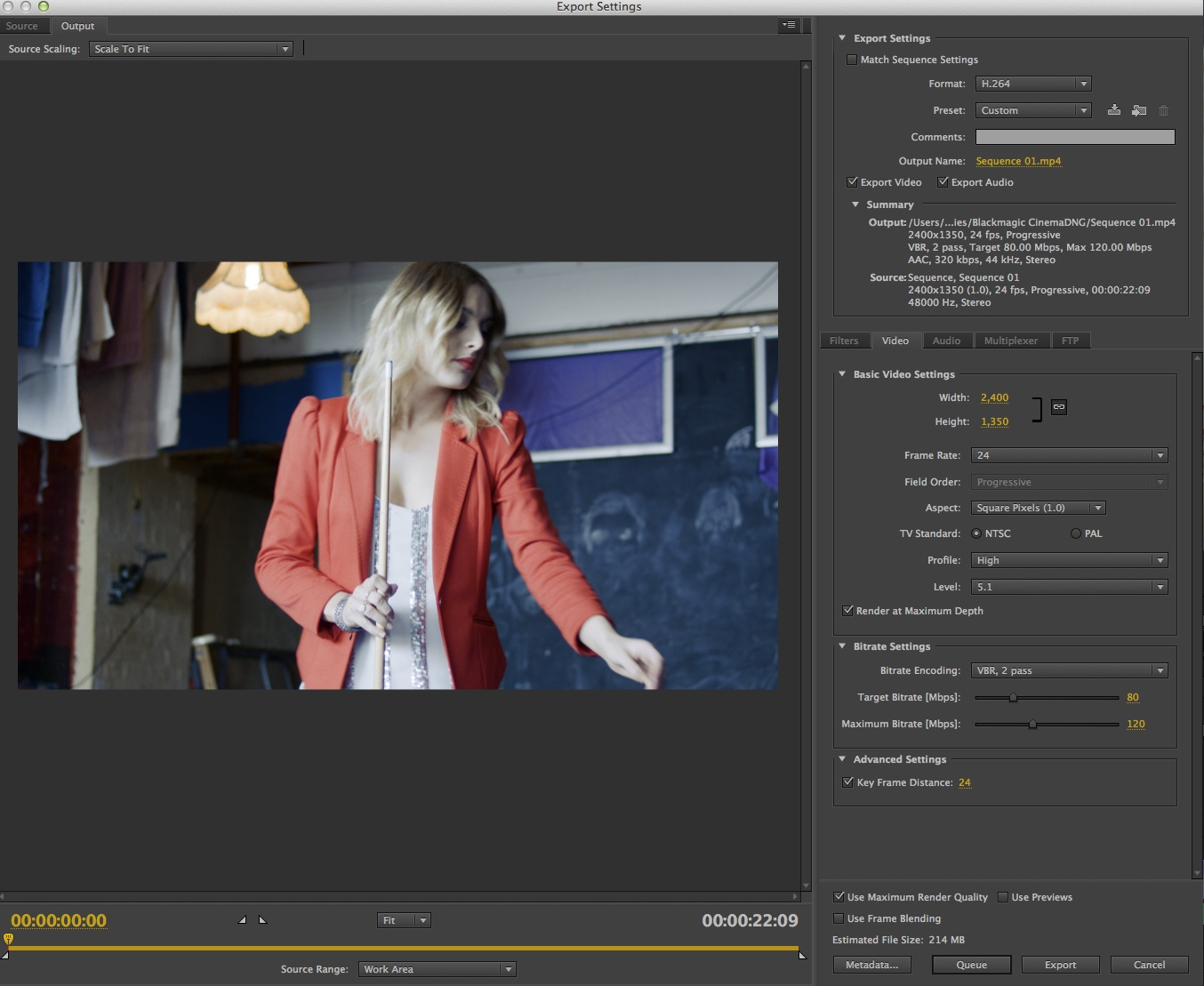 Lossless Blackmagic Cinema DNG 2 5k workflow for Adobe