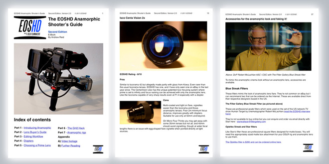 Anamorphic guide - sample pages