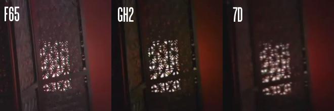 Sony F65 vs GH2 vs 7D