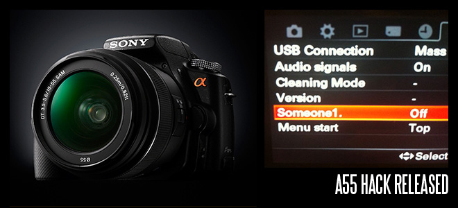 Sony A55 hack released