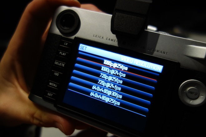 Leica video mode recording formats