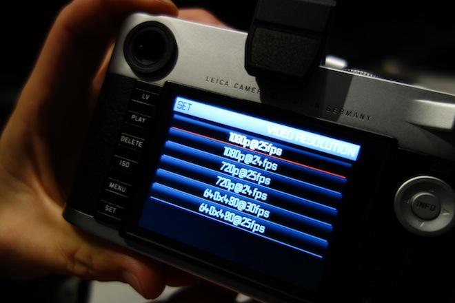 Leica video mode recording formats
