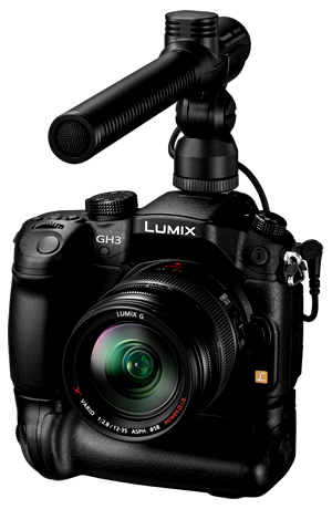 GH3 with video mic